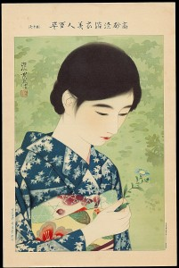 Ito_Shinsui-100_Figures_of_Beauties_Wearing_Takasago_Kimonos-17-Number_17-Summer_Flowers-008779-02-22-2012-8779-x2000